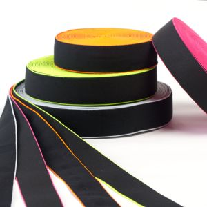 The Elastic Color Edge Polyester Ribbon for Garments pictures & photos