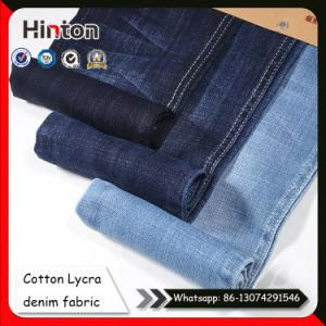 Cotton Lycra Denim Fabric Twill Jean Fabric for Garment pictures & photos