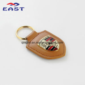 Plated Coloring Genuine Leather Key Chain for Porsche Car pictures & photos