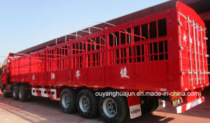 13 Meters Flatbed Van Type Stake Semitrailer pictures & photos