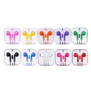 in Ear Earpod with Mic Volume Control Headphone for iPhone Samsung Color Earphones pictures & photos