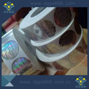 Slivery Laser Hologram Sticker Label in Dongguan pictures & photos