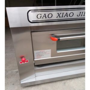 Factory Price Gas Baking Machine Equipment Deck Pizza Oven for Bakery 1deck 2trays pictures & photos