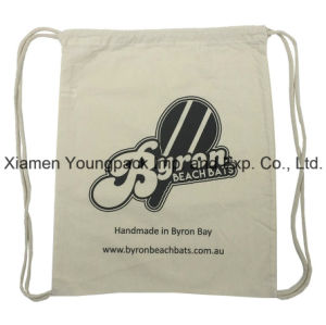 Promotional Custom 100% Organic Cotton Canvas Sling Drawstring Backpack pictures & photos