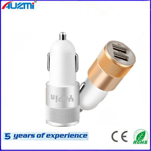 2 USB Port Smart Car Charger with 1A 2.1A