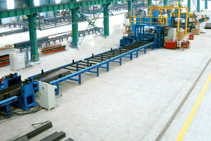 Horizontal H-Beam Production Line pictures & photos