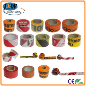 Customized PE Red and White Caution Tape pictures & photos