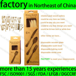 Retail Packaging Wooden Disposable Cutlery pictures & photos
