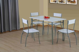 5 Pieces Dining Set Used MDF Board with PVC