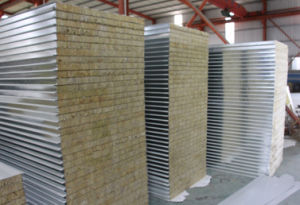 Composite Rockwool Sandwich Wall Panels pictures & photos