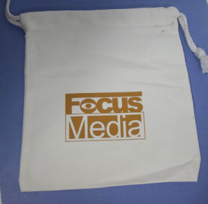 High Quality OEM Promotional Canvas Cotton Drawstring Bag pictures & photos