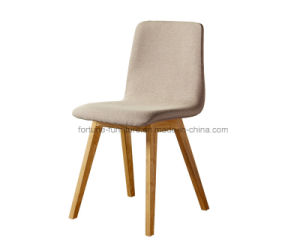 Modern Fabric Upholstered Solid Wood Cross Dining Chair