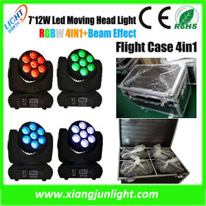 Rich Color Mixed Effect 7PCS 4in1 LED Moving Head Beam Stage Light pictures & photos