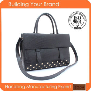 Elegant Rivet Women Leather Handbag (BDM022) pictures & photos