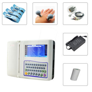 Digital 7-Inch 12-Channel Color Electrocardiograph ECG (EKG-1212F) -Fanny pictures & photos