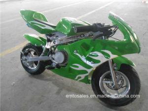 Air Cooled 2 Stroke 49cc Mini Pocket Bike (ET-PR204) pictures & photos