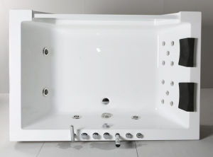 Two Persons Acrylic Indoor Masage Bathtub (JL 825) pictures & photos