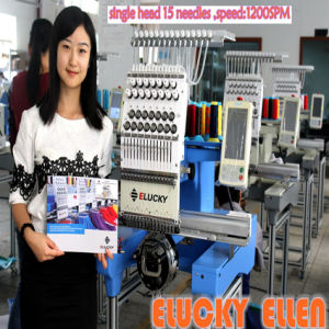 Elucky 2016 Single Head 12 Languages Computer Embroidery Machine