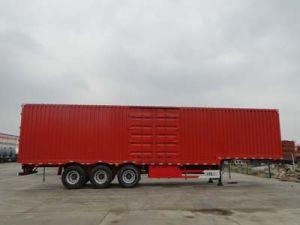 3 Axle Heavy Duty Utility Tralier/Van Box Semi Trailer