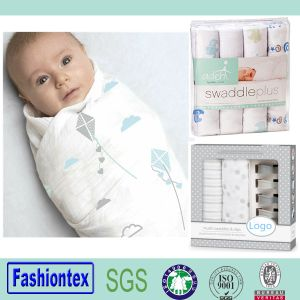 Gots Certified Organic Muslin Swaddle Blanket Muslin Squares Baby pictures & photos