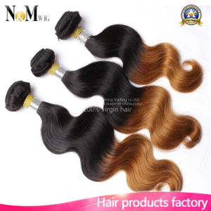 Ombre Indian Virgin Hair Body Wave Natural Color Natural Human Hair pictures & photos