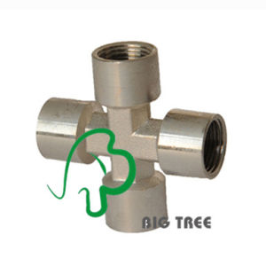 Brass Union Cross Compression Fittings/Connectors with Female Thread pictures & photos