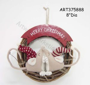 Merry Christmas Kissing Mouse Wreath pictures & photos