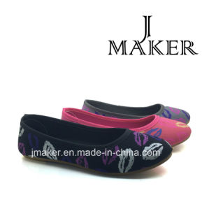 Hot Selling Nice Shoes Lady Flat Shoes Injection Shoes Jm2023-L