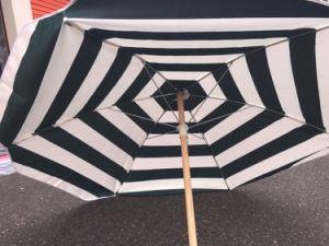Green White Stripe Canvas Beach Patio Yard 5′ Umbrella pictures & photos