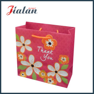 "Customize Ivory Paper ""Thank You"" Flowers Shopping Gift Paper Bag pictures & photos"