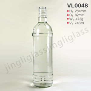 Simple Style Glass Vodka Bottle pictures & photos