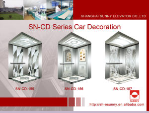 Elevator Cabin with White Acrylic Lighting Ceiling (SN-CD-155) pictures & photos