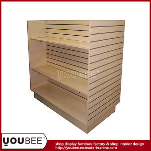 High End Wooden Slatwall Gondola Shelf for Clothing Shop pictures & photos