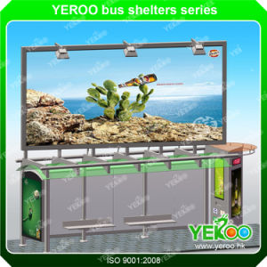 Modern Stainless Steel Bus Shelter Manufacturers Bus Stop Design with Lightbox pictures & photos