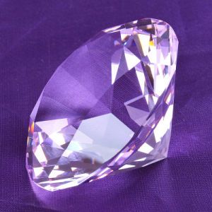 Sapphire Blue Decorative Large Glass Crystal Diamond for Ornaments pictures & photos