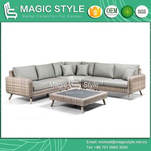 Outdoor Wicker Sofa Set Corner Rattan Sofa Set (Magic Style) pictures & photos