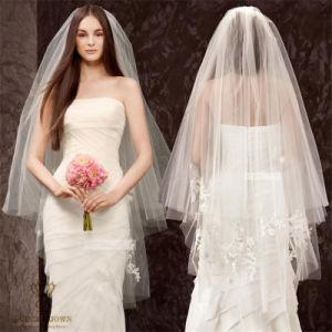 Bride Wedding Double Lace Insert Comb Concealed Soft Veil Veil