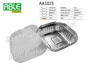 Disposable Foil Plate with Lid/Aluminium Foil Food Plates pictures & photos