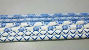 Chinese Style Blue-and-White Porcelain Printed Disposable Wedding Paper Straw
