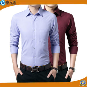 2017 Spring New Fashion Design Men Solid Dress Shirt pictures & photos