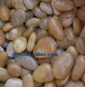 Yellow Pebble Wash Stone for Garden pictures & photos