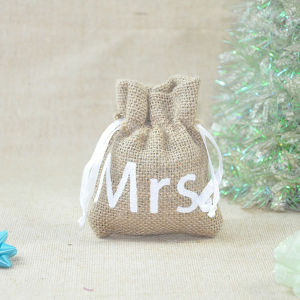 New Custom Jute Drawstring Print Gift Promotion Bag