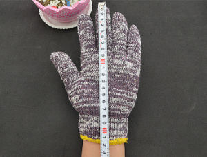 Flower Sand 850 G Coffee Cotton Work Gloves for Export pictures & photos