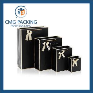 Black Set Fancy Design Paper Packing Bag (DM-GPBB-063) pictures & photos