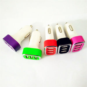 Fast Charger Mini Car Charger 5V/2.1A+2.1A+1A for iPhone 6 5 5s Samsung S4 S5 Note 2 3 iPad 3 4 pictures & photos