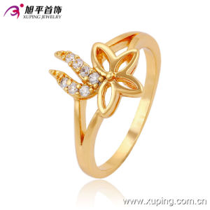 Latest Design Popular Gold -Plated Betterfly Jewelry Finger Ring Design for Women -13528 pictures & photos