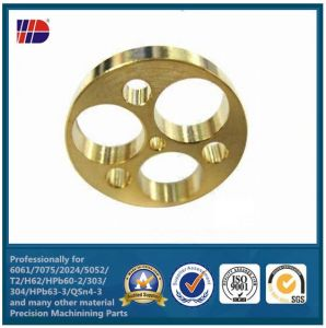 CNC Milling Brass Drilling Holes Auto Parts (WKC-369) pictures & photos