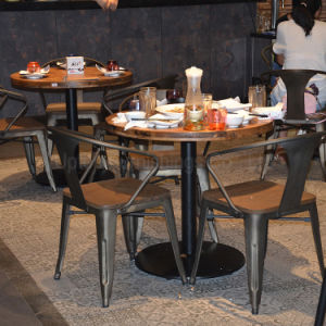 Vintage Bistro Restaurant Industrial Metal Cafe Table and Chair (SP-CS327) pictures & photos