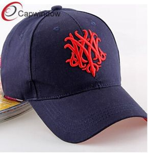 Navy Cotton Twill Baseball Cap with Bloomer 3D Embroidery pictures & photos