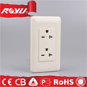 16A Ground Duplex Universal Receptacle for Southeast Asia Market pictures & photos